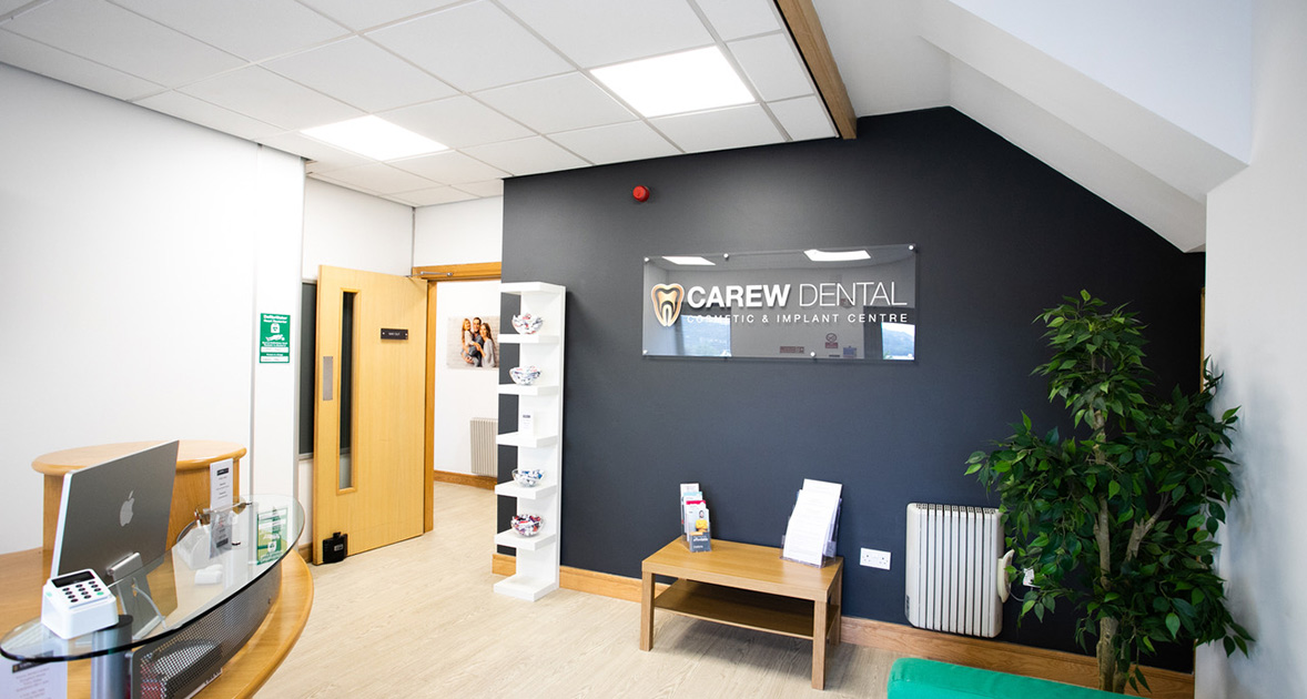carew dental cosmetic and implant centre building and reception